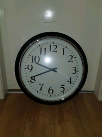 IKEA..BRAVUR Wall clock, black RRP £45 Huge!!!!!! 59cm diameter