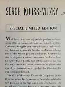 """Red Vinyl - Serge Koussevitzky """"Masters of the Double Bass"""" Kitchener / Waterloo Kitchener Area image 5"""