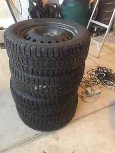 winter tires and rims (4) 225/55R 17