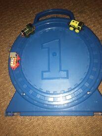 Thomas mini trains and carry case
