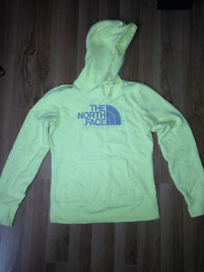North Face hoodie, light yellow