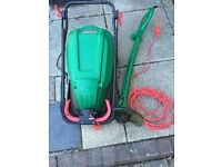 Qualcast Hover Lawn Mover and Grass Trimmer