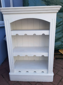 Painted unit / bookcase/ wine rack