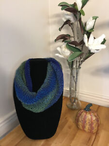 Knitted Twisted Cowl Scarves