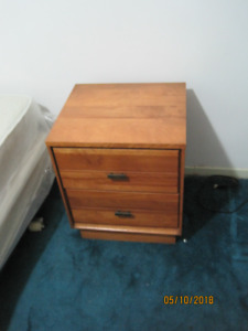 2 drawers solid cherry