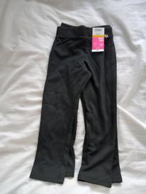3-4years black school trousers 2pack