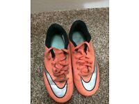 Peach Nike football boots / shoes SIZE1