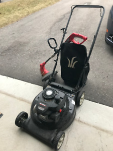 FOR SALE: Gas Lawn Mower and Electric Trimmer