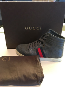 Barely Worn Genuine GUCCI high top sneakers bought on Bloor St
