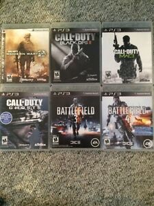 Ps3 games;call of duty, battlefield and more