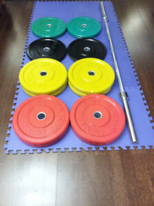 Olympic Bumper Plate Weight Set
