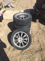 Selling rims and tires 225/50R17 $200
