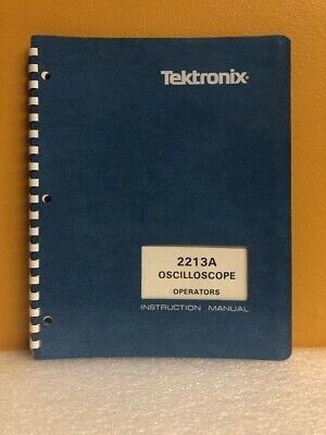 Tektronix 070-4734-00 2213a Oscillocope Operators Instruction Manual