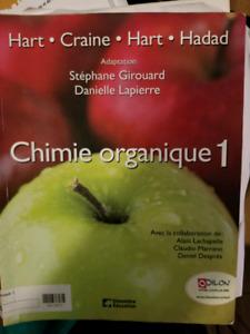 Livre chimie organique 1 à vendre 20$