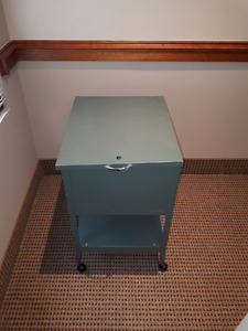 Green Rolling File Cabinet