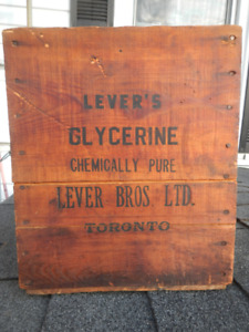 Antique shipping crate