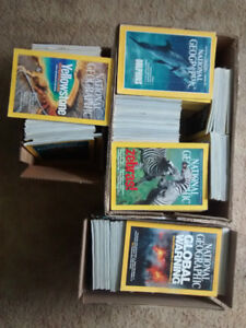 200+ editions of National Geographic magazine 1988-2012