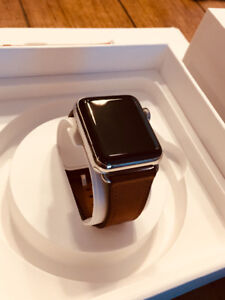LIKE NEW Apple Watch Series 3 38mm Stainless Steel GPS CELLULAR