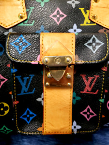 Multi colored hand bag