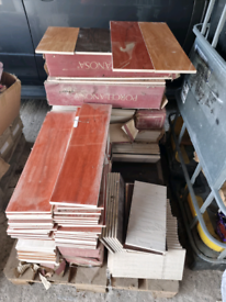 Pallet of mixed tiles