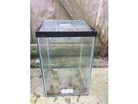 Glass tanks for sale.