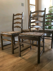 Four Ercol Old Colonial Ladderback Dining Chairs 5 FREE LOCAL DELIVERY