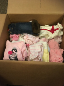 box of NB/0-3 month Girl clothes