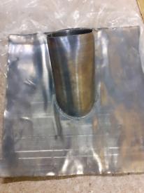 Lead pipe flashing