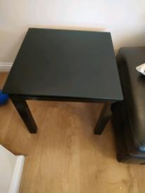 Black square centre/side table