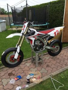 Yz450F 2015 supermotard motocroos glace