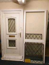 Front Door uPVC & Side Panel Incl Frame