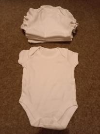 X8 White Baby Vests