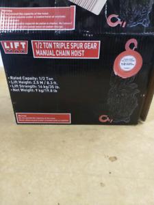 1/2 Ton triple spur gear manual chain hoist wirh brake