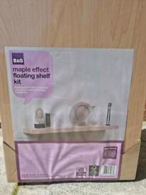 Maple Effect Floating Shelf