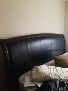 King size bed frame and box spring