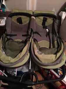 High End Side by Side Double Stroller