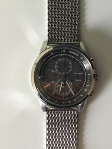 Men's Citizen Eco-Drive® Chronograph Watch with Grey Dial (Model