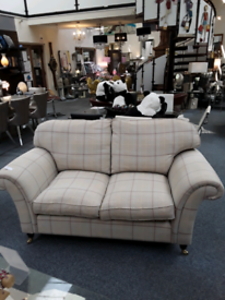 Checked beige Settee