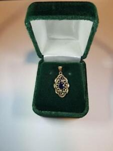 14K Gold Sapphire Pendant, Appraised at $2000!