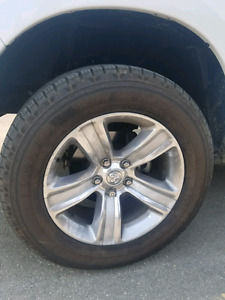 """2015 Ram 1500 20"""" wheels with two sets of tires !!"""