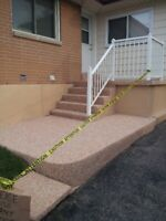 Stone or Rubber for Pools Patios Driveways Garage Floor Porches