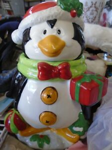 Porcelain Penguin Cookie Jar  for sale