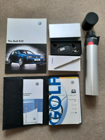 VW R32 Knirps Umbrella,R32 Lamy Pen, R32 Leather Keyring, Owners leat