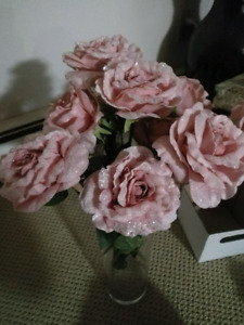 Pink sparkle roses from Michael's