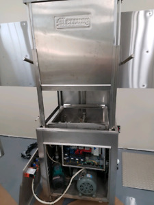 Commercial high temp dishwasher