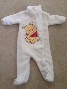 Winnie the Pooh soft snow suit fits 3-6 months