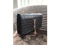 Yves Saint Laurent grey shoulder bag