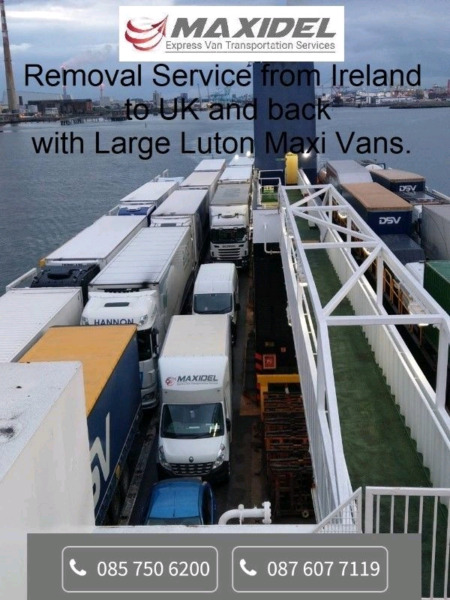 Removal Service from Ireland to UK and back with Large Maxi Luton Van