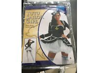 Tutu sailor girl Halloween fancy dress outfit small uk8/10