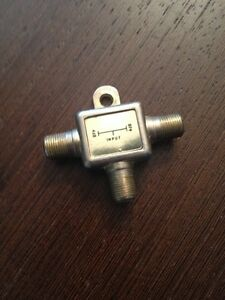 2-Way Coaxial Cable Splitter